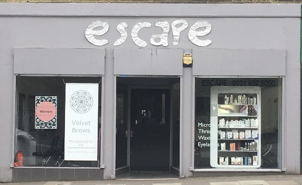 Shop facade for Escape Hairdressing