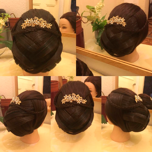 Bridal hairdo with jewellery in hair