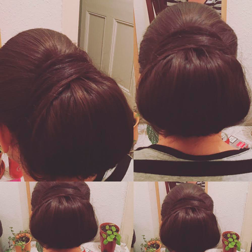 Hairup, a smooth bun held by the hair